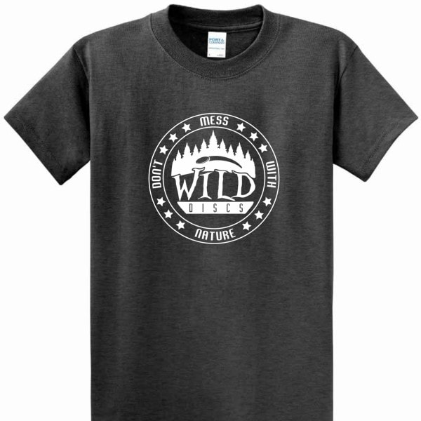 Don't Mess With Nature Tee - Dark Heather Grey